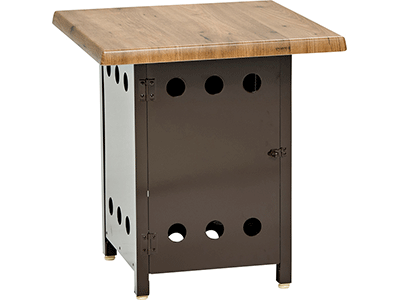 ボンベ収納サイドテーブル NBST-6×6/ブラウン