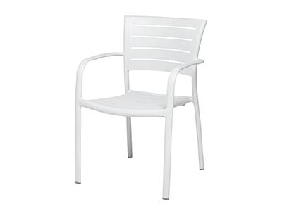 モナコアームチェア/ホワイト