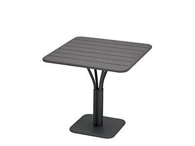 ルクセンブール テーブル80×80/47アンスラサイト
