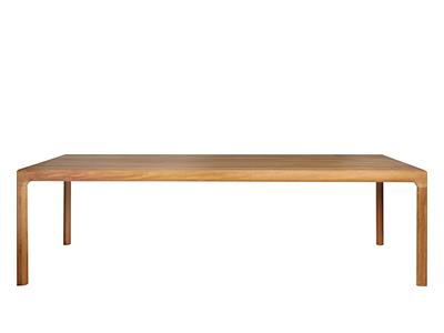 イルムダイニングテーブルチーク100×100